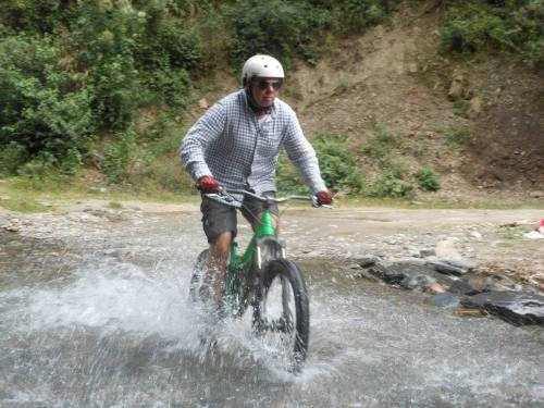 Splish Splash. One of the last legs of the ride required us to ride through a bit of water.