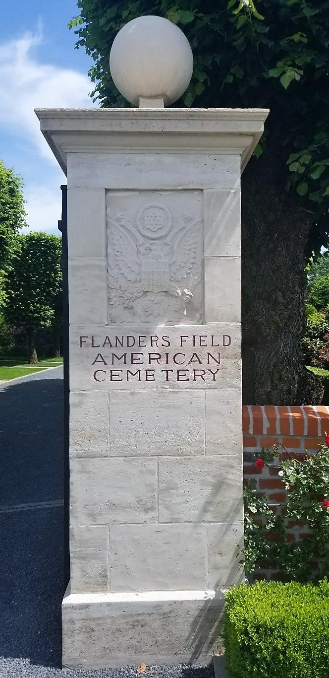 The Flanders Field American Cemetery.