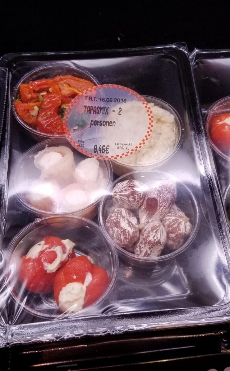 Packaged tapas from a European Supermarket