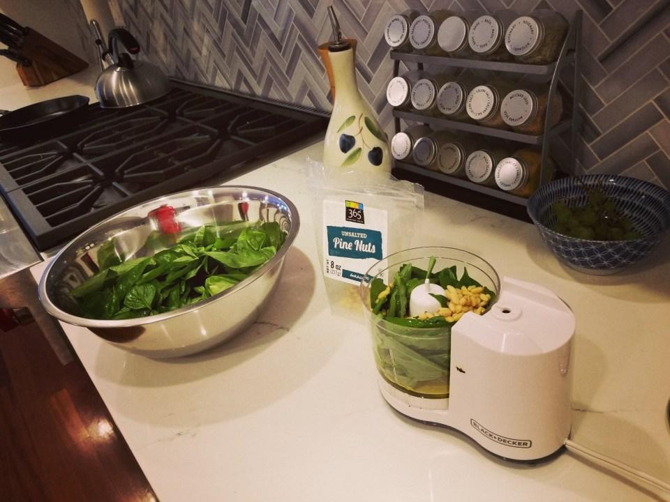 Making Homemade Pesto
