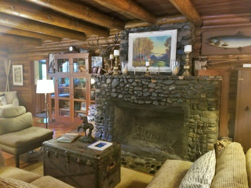 The main lodge's grand fire place.