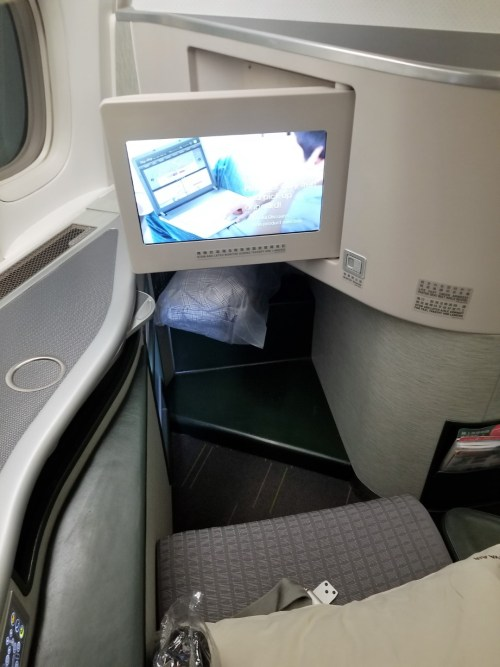 Leg room and pop-out IFE