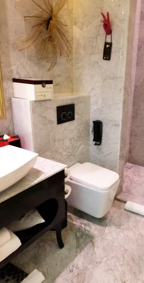 Bathroom at SO Sofitel Singapore.