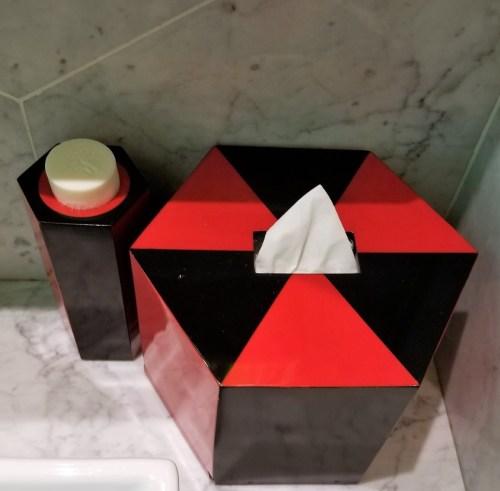 Lagerfeld designed bathroom accessories.