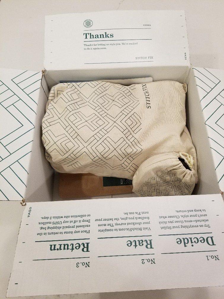 StitchFix Box, hiding its secrets.