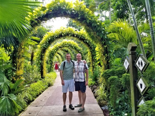 Arches at the National Orchid Garden in Singapore