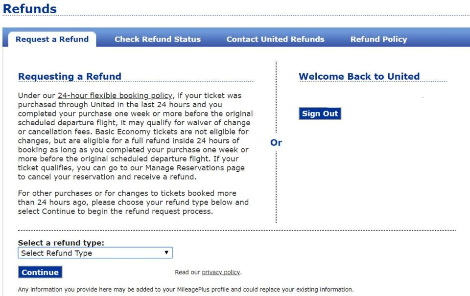 United Wifi Refund