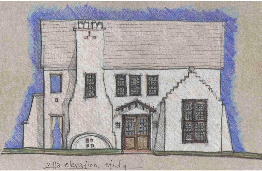 McNamara-Alys Beach House-Somerset Villa-Schematic Elevation Study