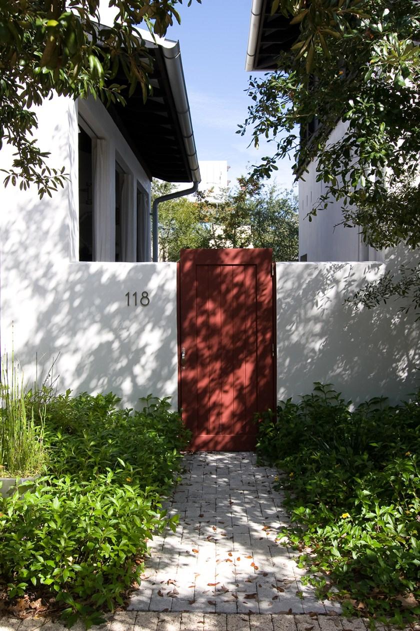 McNamara-Rosemary Beach-Bridgetown Avenue House-Exterior-Gate