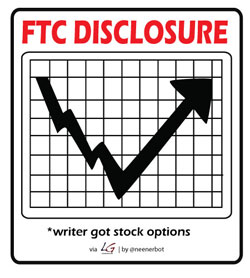 FTC Disclosure: Writer got stock options.