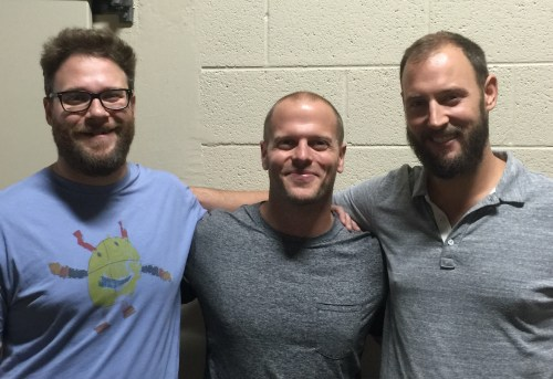 Picture of Tim Ferriss, Seth Rogen and Evan Goldberg