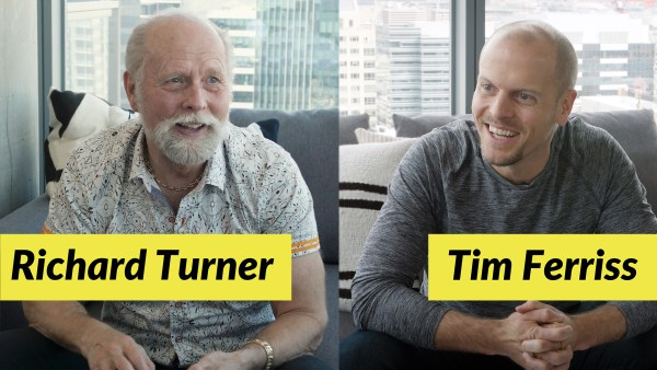 Photo of Richard Turner and Tim Ferriss during the interview