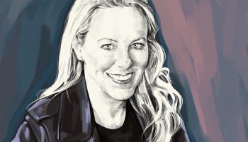 Artist's rendering of Katie Haun.