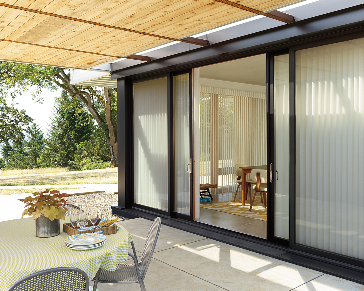 Enjoy Your Outdoor Space French Door Shades Shutters