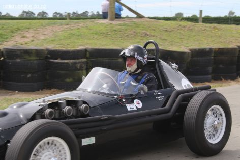 Graeme Hamilton brings his 1958 Ace III off the track