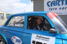Chris Mancey, from Alexandra, ready to go in his Vauxhall Velox