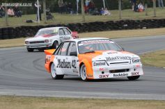 Mike Baldwin, of Timaru, in his Holden Commodore VK