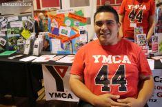 Jamahli Kingi, at the YMCA desk