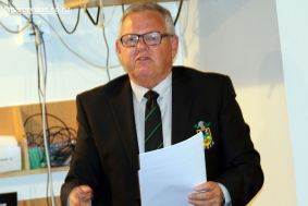 Craig Calder (CEO) talks to his report at the SCRFU Annual General Meeting