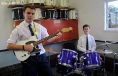 Joseph Allen-Perkins (guitar) and Ben Helliwell (drums)