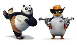Panda and Penguin