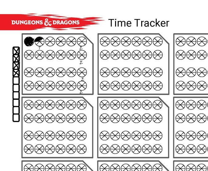 Time Tracker and Exploration Manager for Dungeons & Dragons