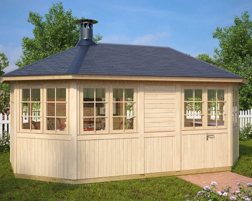 Large Garden BBQ Hut Albatross 15m² / 21mm / 5,4 x 3,3 m