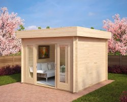 Modern Garden Office Lucas E 9m² / 44mm / 3 x 3 m