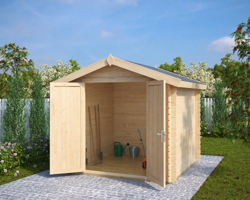 8x8 Garden Storage Shed Andy M 5m² / 28mm / 2,5 x 2,5 m