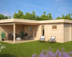 Garden SPA and Sauna Cabin A 22m2 / 70mm / 7 x 3 m