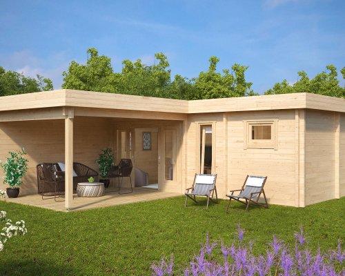 Garden SPA and Sauna Cabin A 22m2 / 70mm / 7 x 3 m