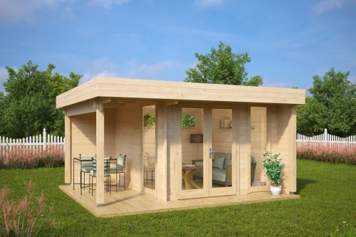 Garden Office-Garden Room Mini Hansa Lounge 9m2 / 44mm / 3 x 3 m