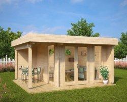 Garden Office-Garden Room Mini Hansa Lounge 9m2 / 44mm / 3 x 3 m