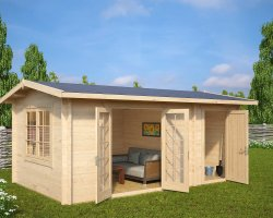 Garden Room and Shed Combined Super-Fred 15m2 / 44mm / 5 x 3 m
