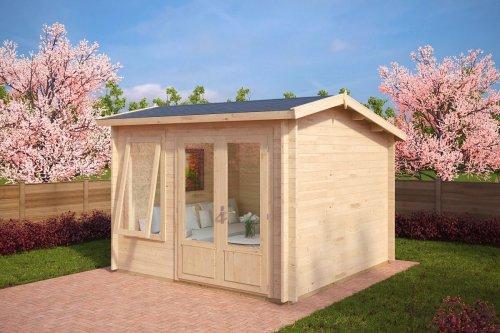 Modern Garden Log Cabin Nora D 8,5m² / 40mm / 3,2 x 3,2 m