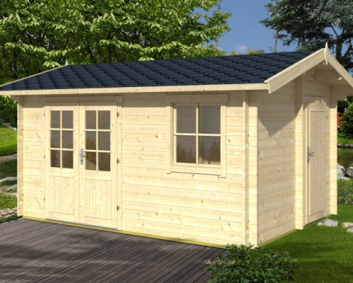 Summer House with Tool Shed Gustav 10,5m² / 28mm / 4,1 x 3 m