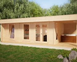 "Large Garden Room ""The Hansa Lounge XXL Pool Edition"" 24m2 / 50mm / 8 x 5 m"