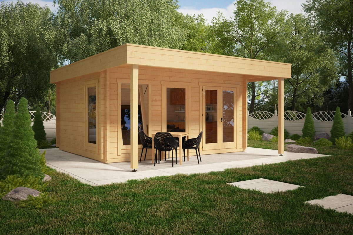 Large Garden Room with Canopy Ian E 18m² / 50mm / 5 x 4,1 m ...