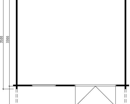 Garden Summer House Johanna B 12,5m² / 50mm / 4,1 x 3,5 m