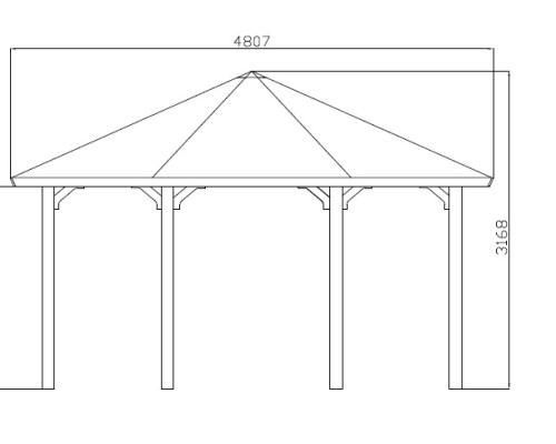 Large Gazebo Canopy Nicole XL 15m² / 4,5 x 4,5 m