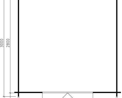 Garden Summer House Lily XL 7,5m² / 28mm / 3 x 3 m