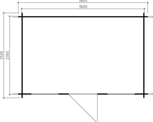 Garden Log Cabin Lisa S 8m² / 28mm / 3,8 x 2,5 m