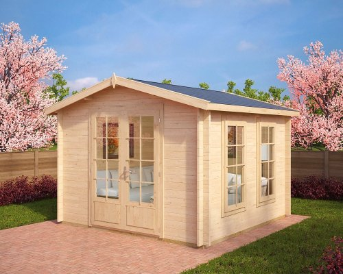 Garden Log Cabin Nora B 8,5m² / 40mm / 3,2 x 3,2 m