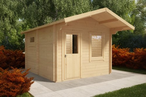 Outdoor Sauna Cabin Oslo 12,5m² / 50mm / 3,5 x 4,1 m
