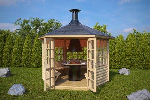 Finnish BBQ Hut Seattle 6m² / 55mm / 3 x 2,6 m