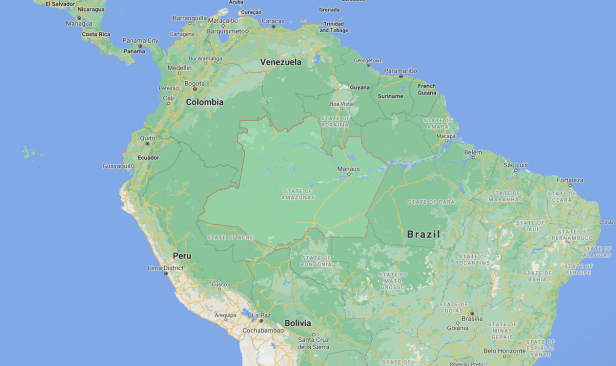 Map of Amazonas where Police seized 8,300 cubic meters of illegal wood