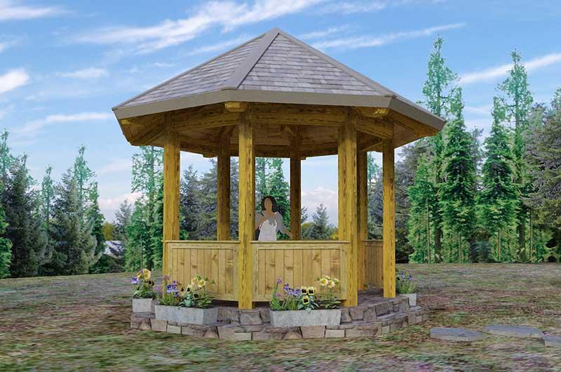 Gazebo - timber framed outdoor structures
