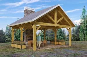 Woodhouse King Post Square Pavilion Kit