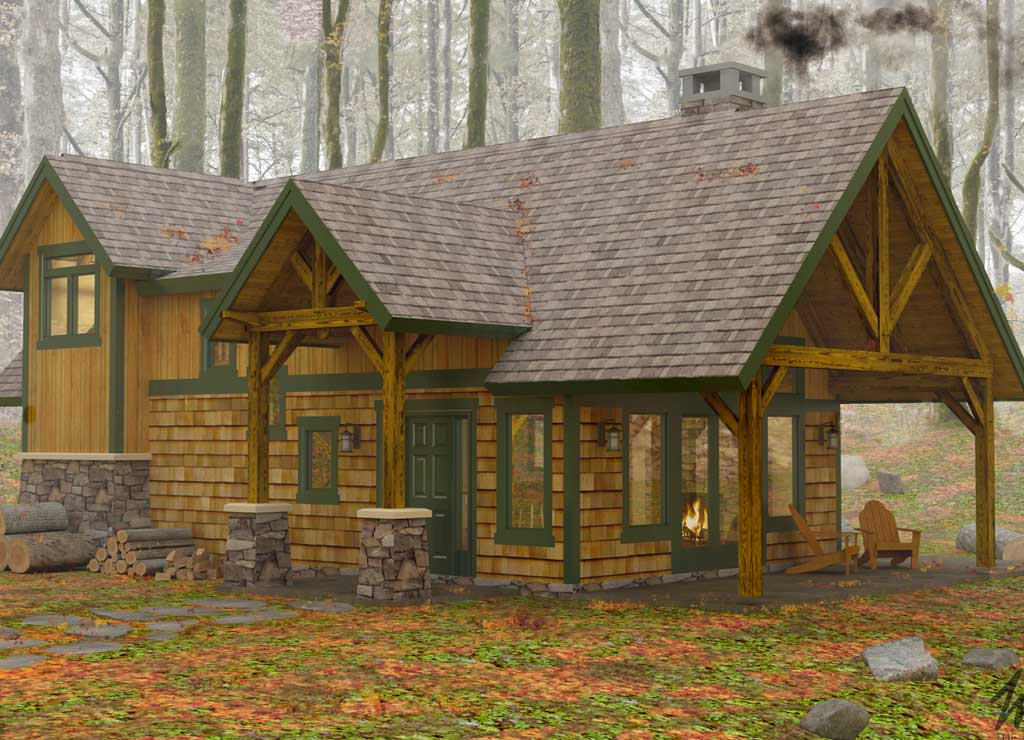Sylvancottage woodhouse the timber frame company for Timber frame cottage