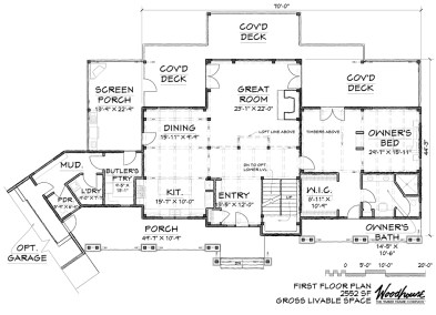 GreatCamp 1st Floor Plan